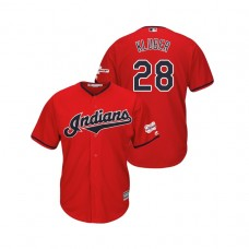 Cleveland Indians 2019 All-Star Game Patch Scarlet #28 Corey Kluber Cool Base Jersey
