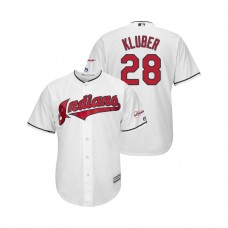 Cleveland Indians 2019 All-Star Game Patch White #28 Corey Kluber Cool Base Jersey