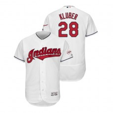 Cleveland Indians 2019 All-Star Game Patch White #28 Corey Kluber Flex Base Jersey