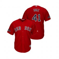 Boston Red Sox Scarlet #41 Chris Sale Team Logo Patch Jersey 2018 World Series Champions