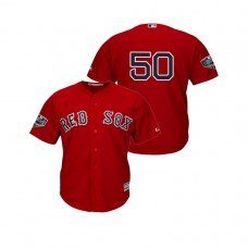 Boston Red Sox Scarlet #50 Mookie Betts Cool Base Jersey 2018 World Series