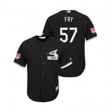 Chicago White Sox Black #57 Jace Fry Cool Base Jersey 2019 Spring Training
