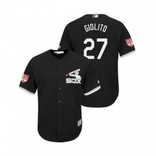 Chicago White Sox Black #27 Lucas Giolito Cool Base Jersey 2019 Spring Training