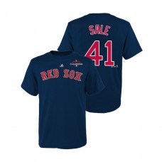 Youth Boston Red Sox Navy #41 Chris Sale Majestic T-Shirt 2018 World Series Champions