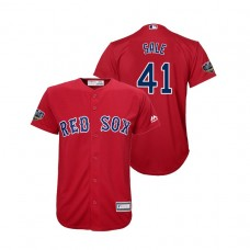 Youth Boston Red Sox Red #41 Chris Sale Cool Base Jersey 2018 World Series