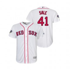 Youth Boston Red Sox White #41 Chris Sale Cool Base Jersey 2018 World Series