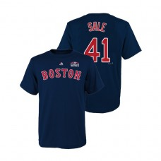 Youth Boston Red Sox Navy #41 Chris Sale Majestic T-Shirt 2018 World Series